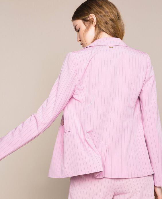 Double breasted pin stripe blazer
