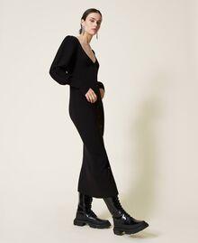 Robe «Garnet» avec manches ballon Noir Femme 212AP3032-02