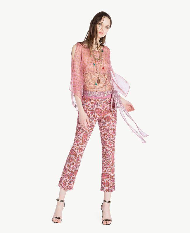 Pantalon flare imprimé Imprimé «Hippie Arabesque» Femme TS82X3-05