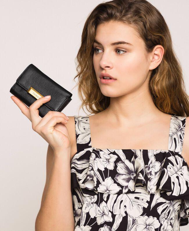 Portefeuille Bea Bag moyen en cuir Noir Femme 201TA7033-0S