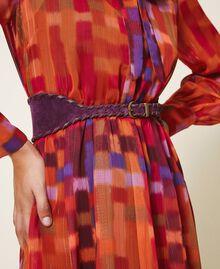 Gürtel aus Rauleder Dark Shiny Purple Frau 202TO5017-0S