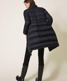 Long puffer jacket with velvet drawstring Black Woman 202MP2541-06