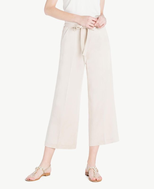 Envers satin trousers Dune Woman TS823P-01