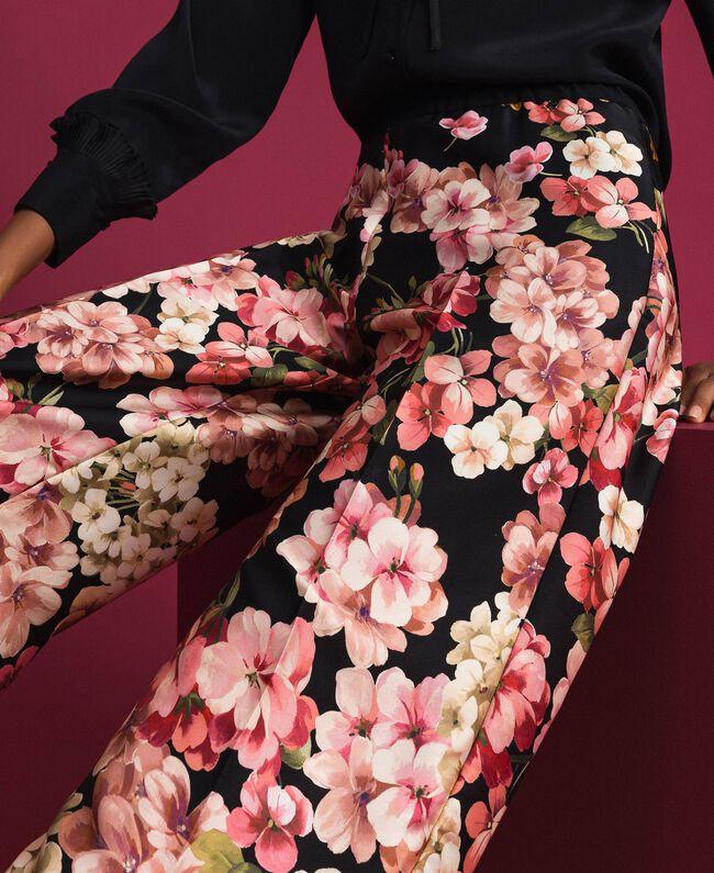 Pantalon palazzo avec imprimé foulard floral Imprimé Foulard Femme 192TP2605-04