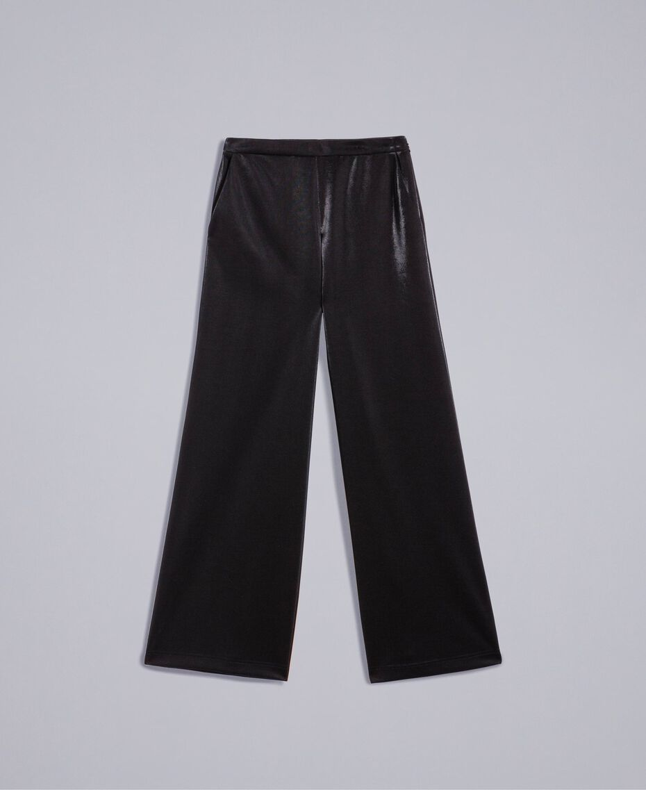 Technical fabric palazzo trousers Black Woman IA85CC-0S