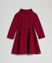 Robe en crêpe avec ceinture Rouge Ruby Wine Enfant 192GJ2452-0S
