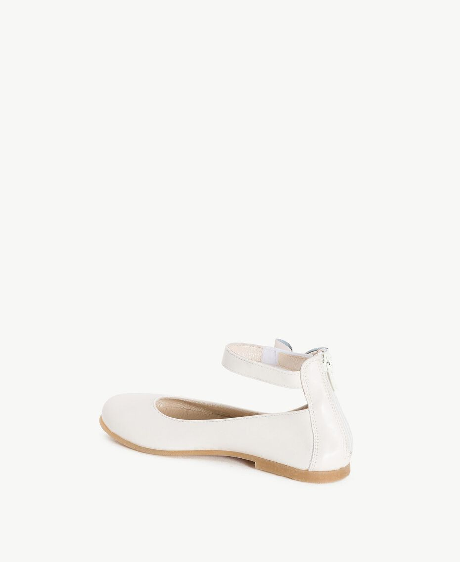 Bow ballerina pumps Pale Cream Child HS86CN-03