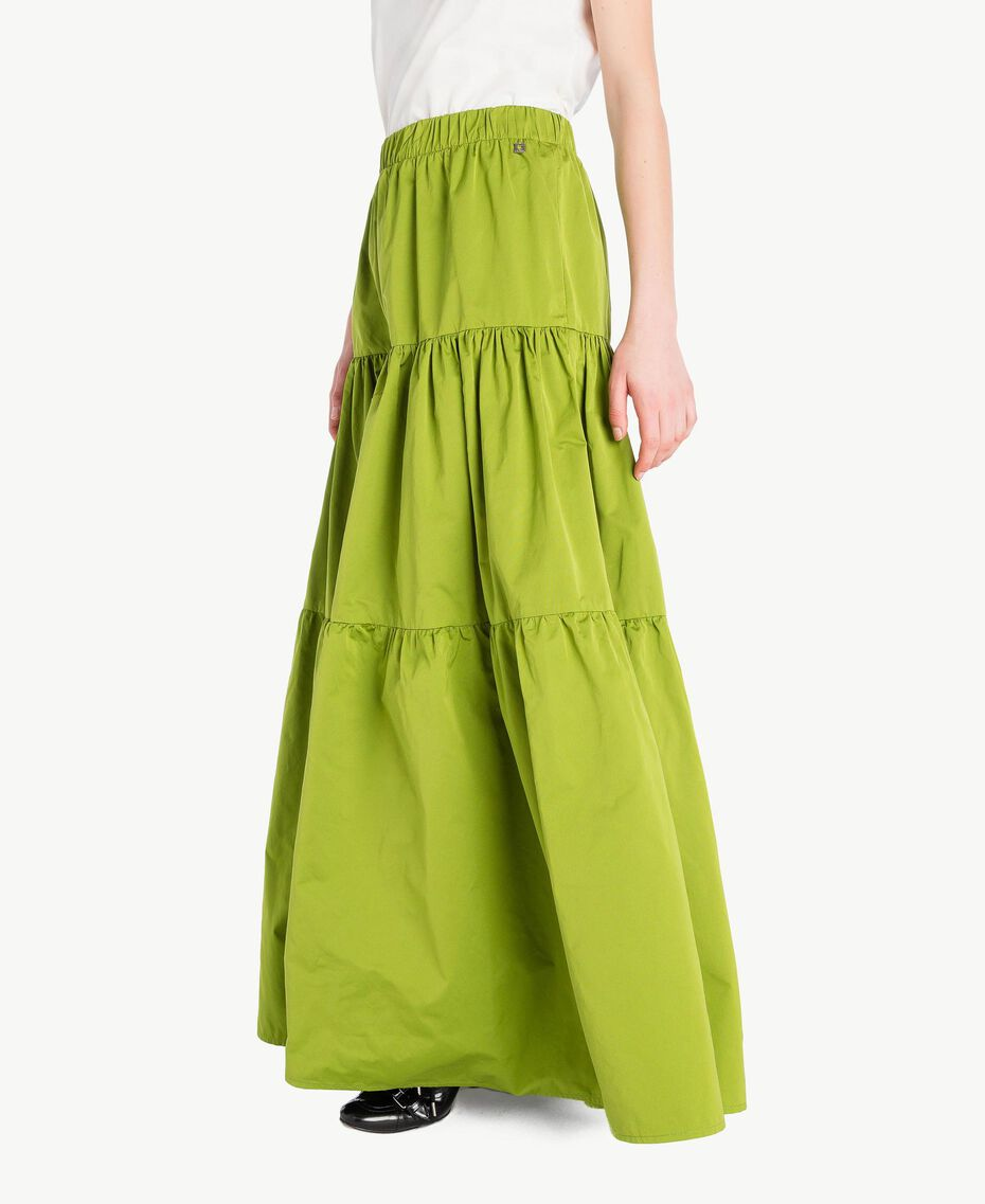 "Technical fabric skirt ""Lime"" Green Woman PS82J8-02"