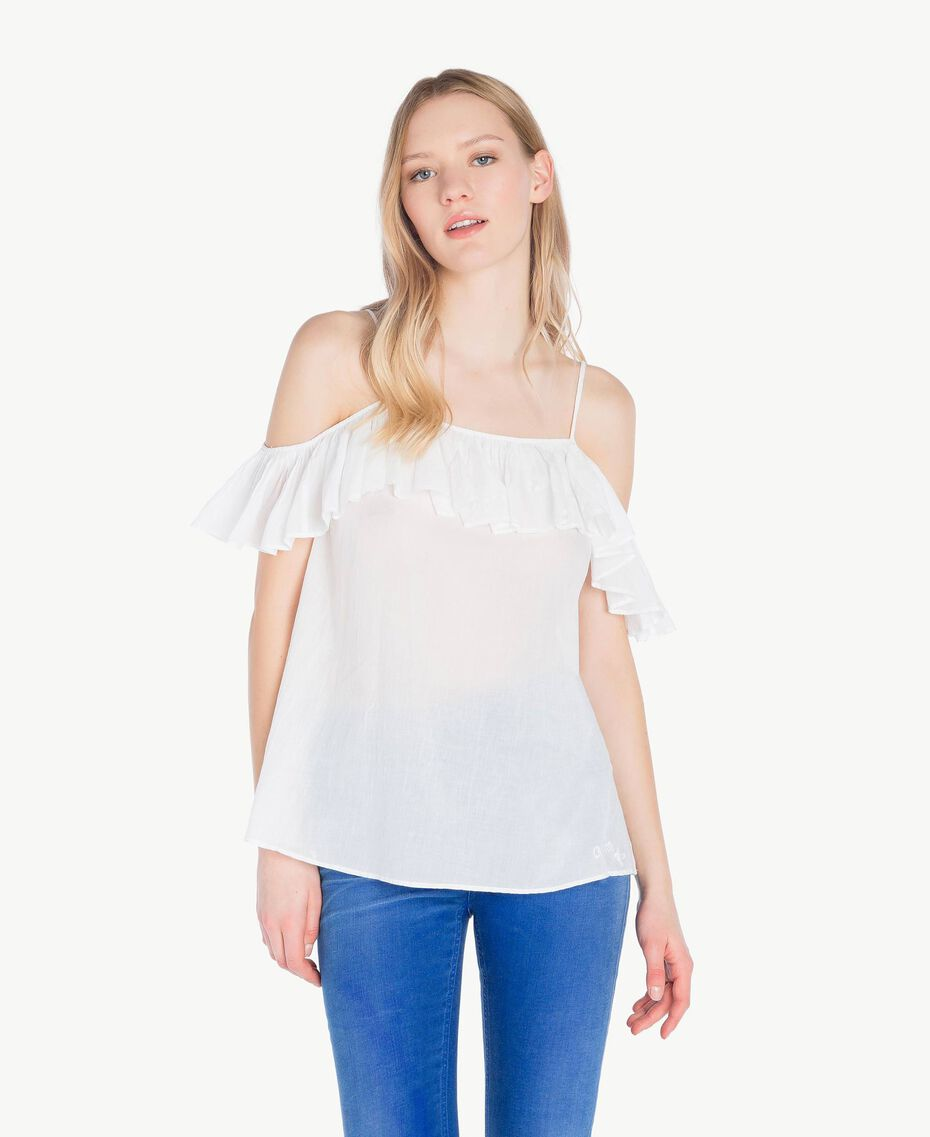 Top mussola Off White Donna YS82HP-01