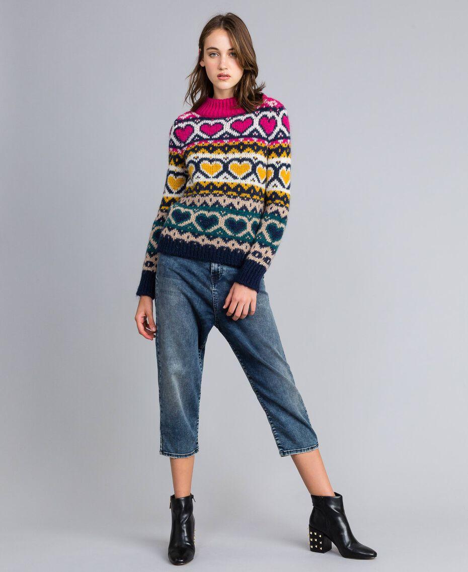 Jeans loose fit in denim soft Denim Blue Donna YA82W1-01