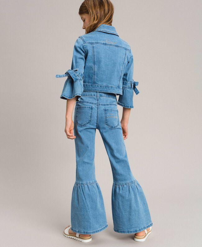 Bell-Bottom-Jeans Hellblauer Denim Kind 191GJ2590-03
