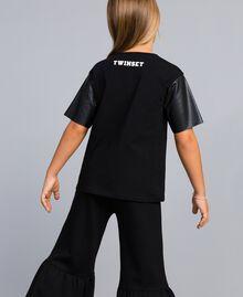 T-shirt en coton avec imprimé Noir Enfant GA82B3-03