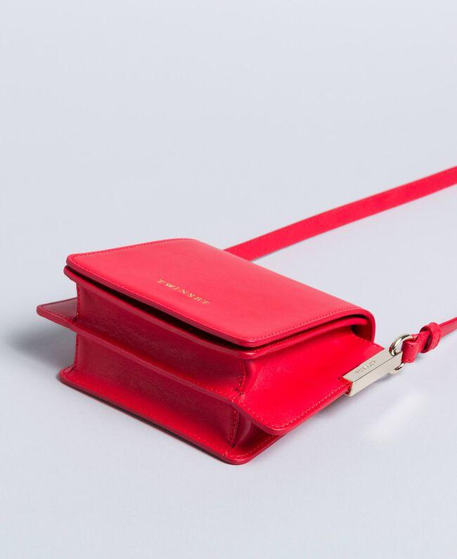 Bolso bandolera de piel Rojo Amapola Mujer AA8PGB-03