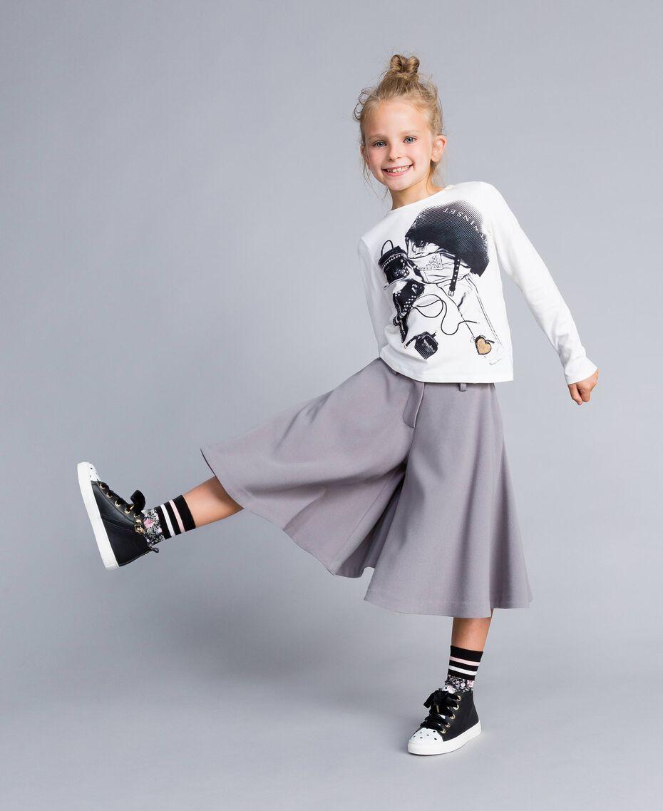 Crêpe trouser skirt Grey Stone Child GA82DC-0S