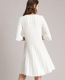 Knit dress with lurex stripes White Snow Woman 191TP3250-04