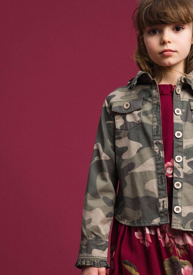 Chemise avec imprimé camouflage