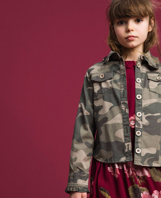 Camicia a stampa camouflage Stampa Camouflage Bambina 192GJ2160-01