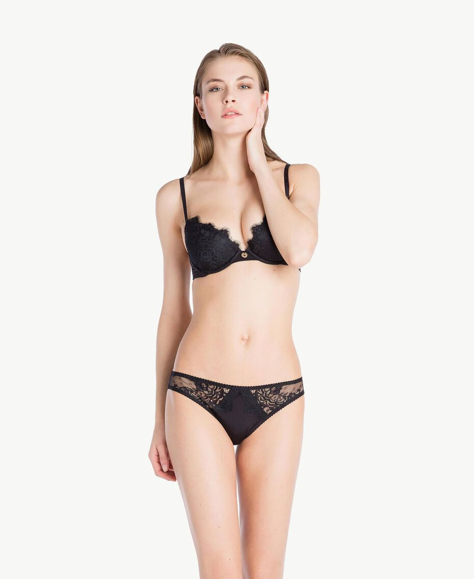 Lace push up bra (B cup) Black Woman LS8C44-03