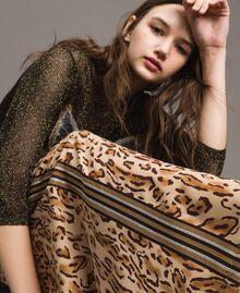 "Animal print palazzo trousers ""Petra Sandstone"" Brown Animal Print Woman 191LM2UEE-02"