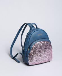 Рюкзак из искусственной кожи с пайетками Синий Blackout Pебенок GA87CN-02