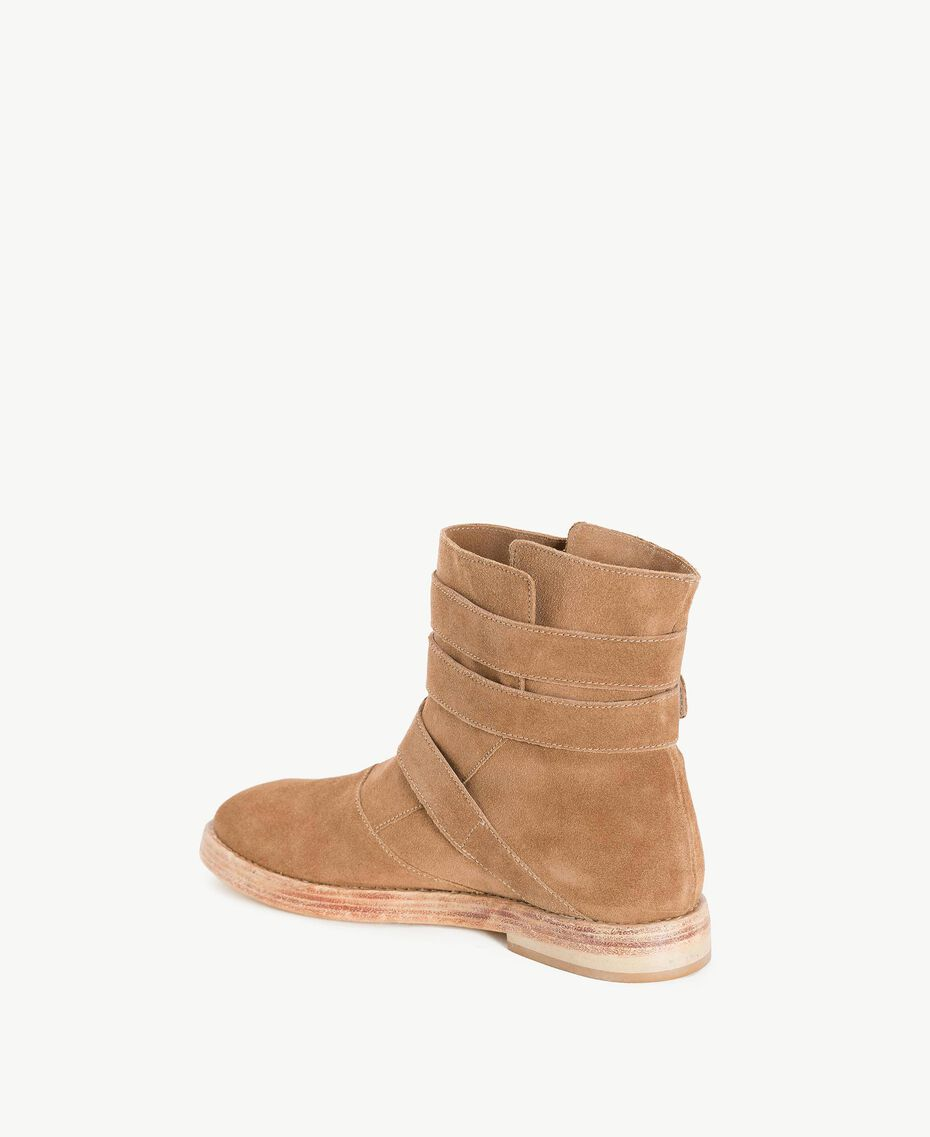TWINSET Buckle biker boots Ecrù Woman CS8PDC-03