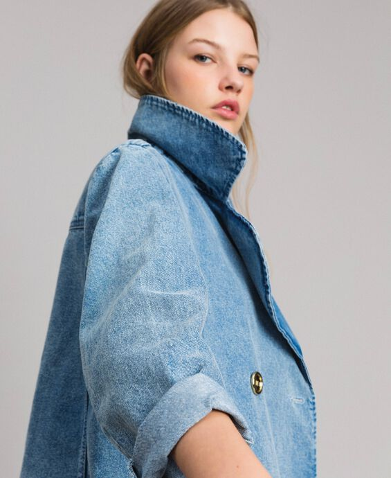 Giacca caban in denim