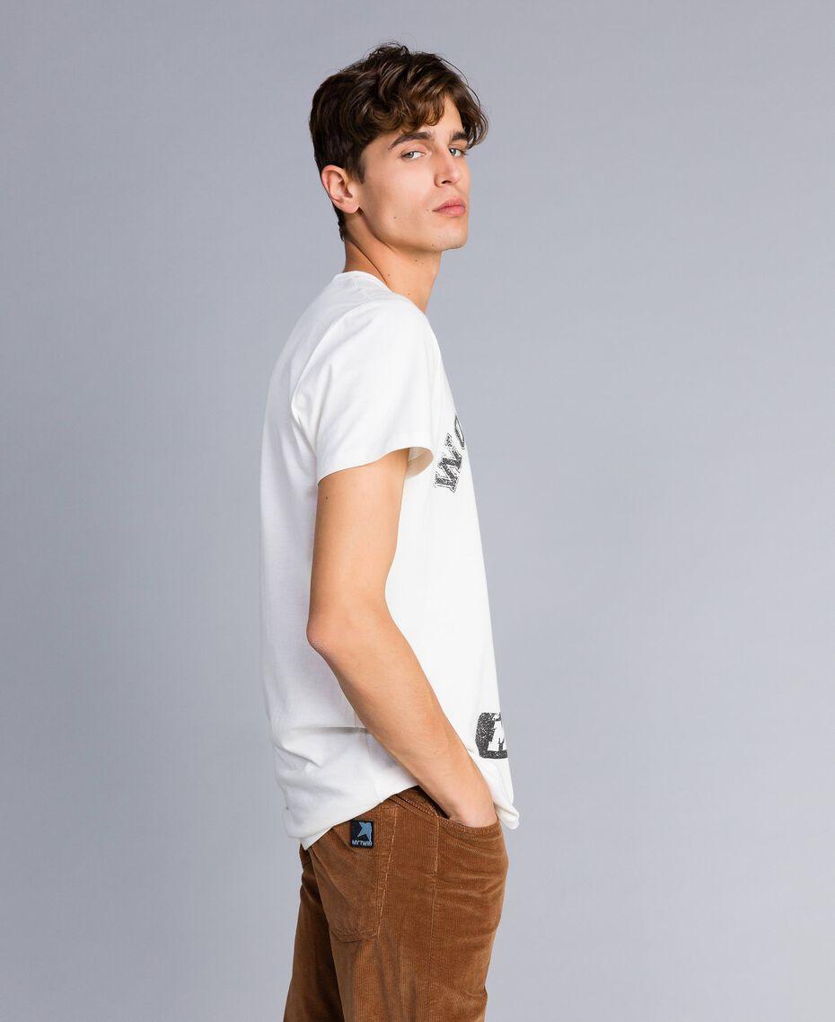 T-shirt in cotone con stampa Madreperla Uomo UA82GB-02
