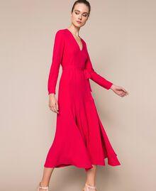 Long dress with slits Black Cherry Woman 201TP2433-02
