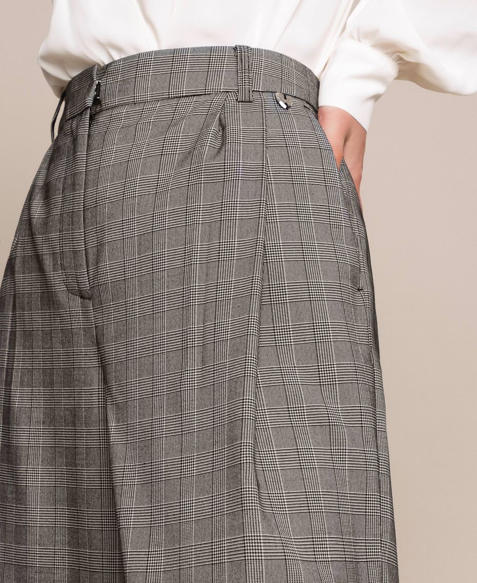 Hose mit Prince-of-Wales-Muster Multicolor Prince of Wales Frau 201MP2062-05