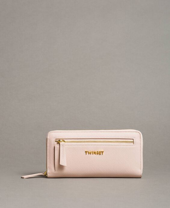 Faux leather wallet with pocket