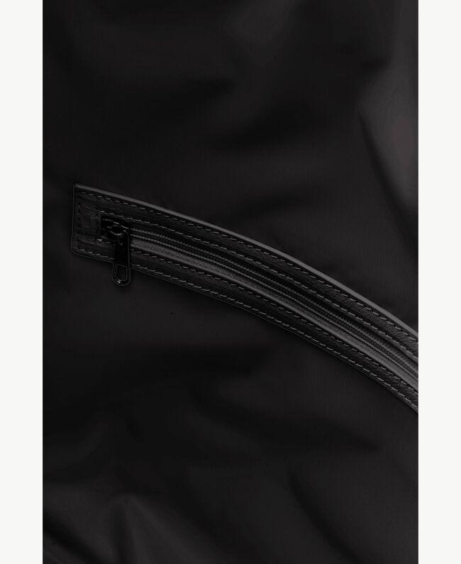TWINSET Fringed hobo bag Black Woman OS8TDA-04