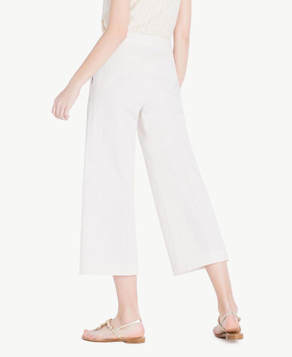 """Cropped trousers Light """"Dune"""" Beige Stripes Woman TS82Z3-03"""