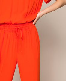 "Georgette jumpsuit ""Ace"" Orange Woman 201LL2NBB-05"