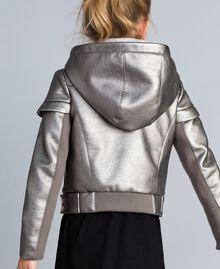 Faux leather laminated jacket Olive Child GA82BN-03