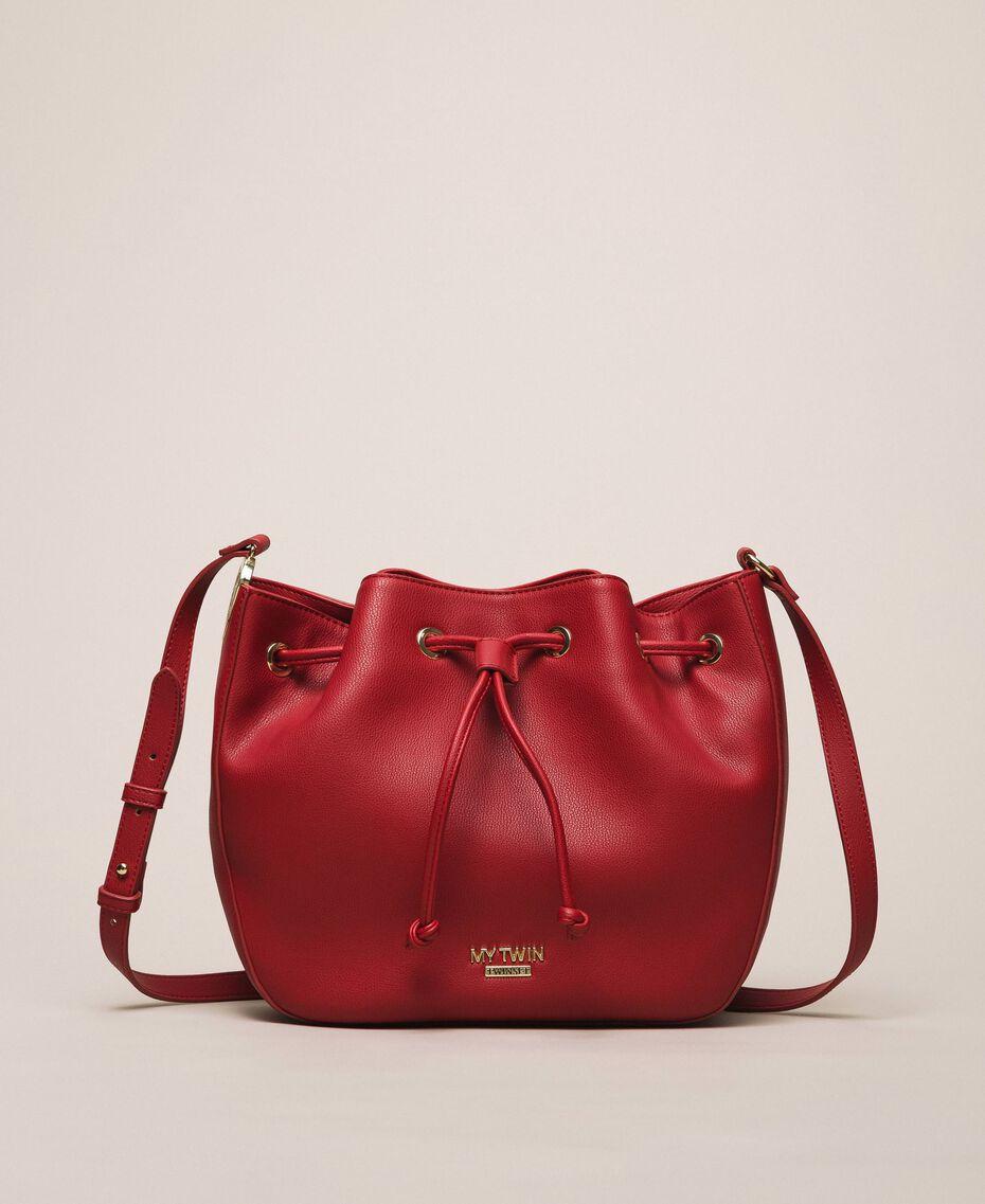 Сумка-мешок из искусственной кожи с платком Красный Венецианский женщина 201MA7082-02