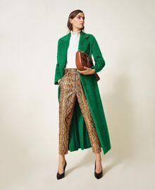 Manteau long en drap brossé Python Femme 202TP2601-0T