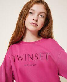 Sweatshirt with logo embroidery Dark Fuchsia Child 202GJ283A-04