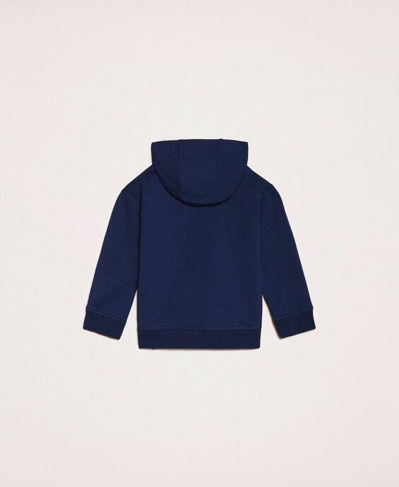 Sweatshirt with sequin patch