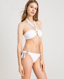 Haut de bikini bandeau avec anneau Blanc Femme 191LBM211-0S