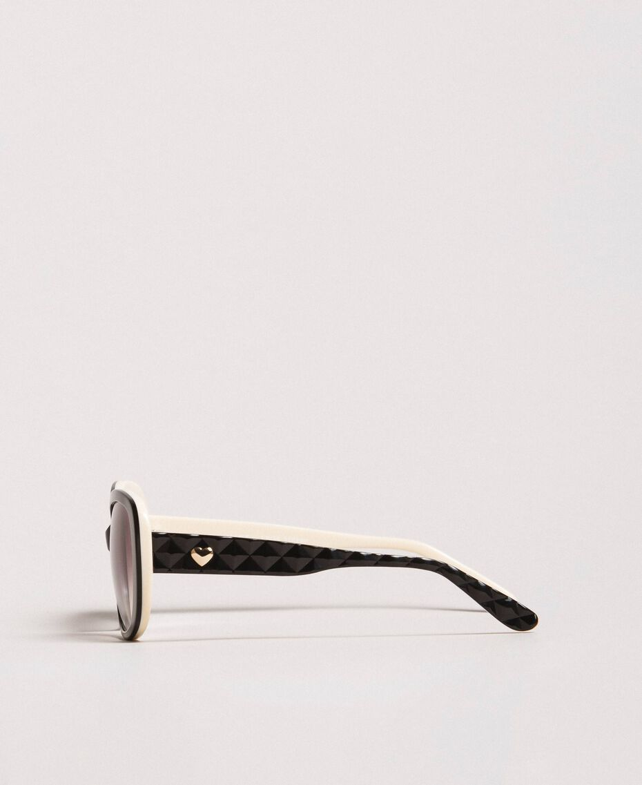 Katzenaugen-Sonnenbrille Schwarz Frau 999TZ4010-02