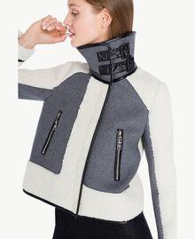 Jacke aus Schaffellimitat Grau Melange YA72A2-04