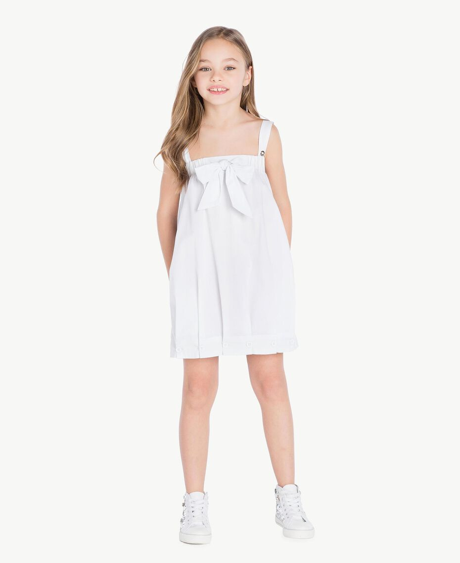 "Robe popeline Blanc ""Papers"" Enfant GS82QN-02"