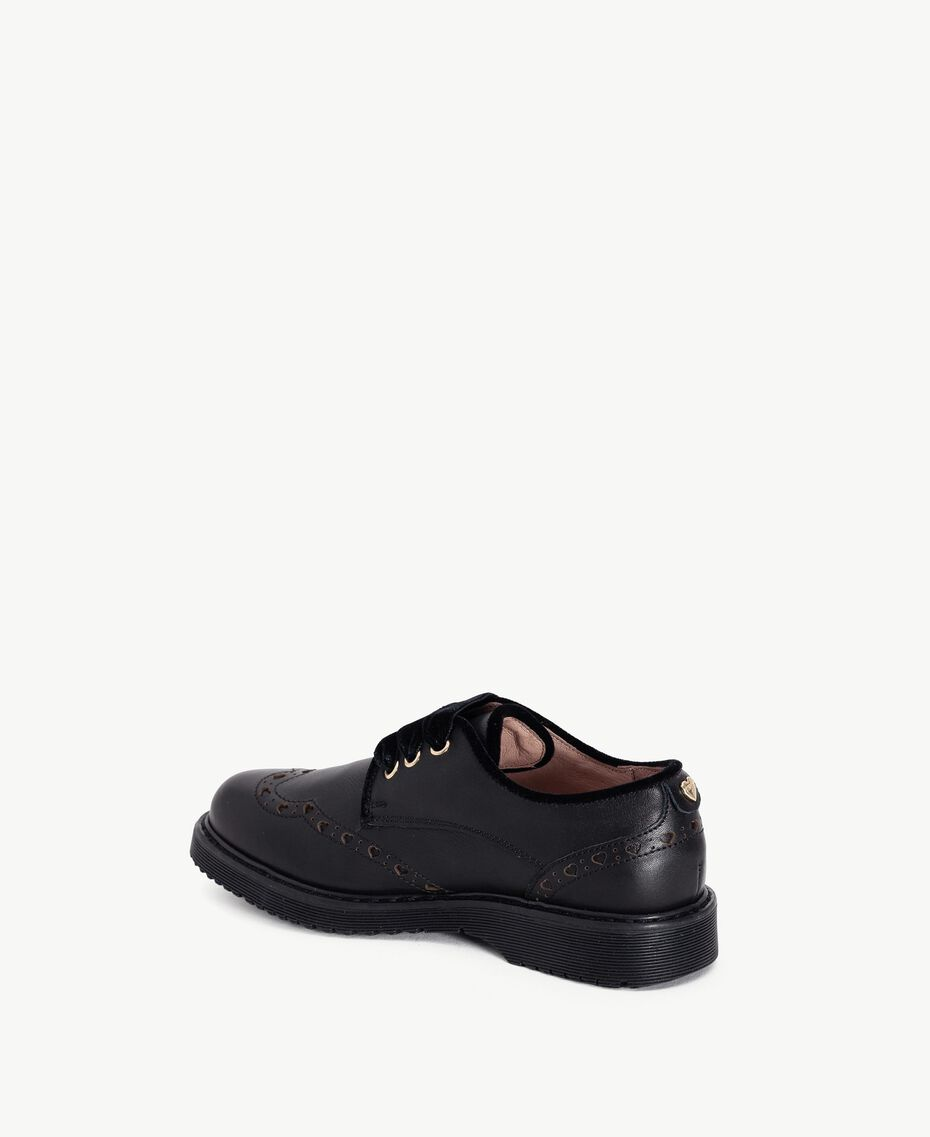 Nappa leather lace-up shoes Black HA78AS-03