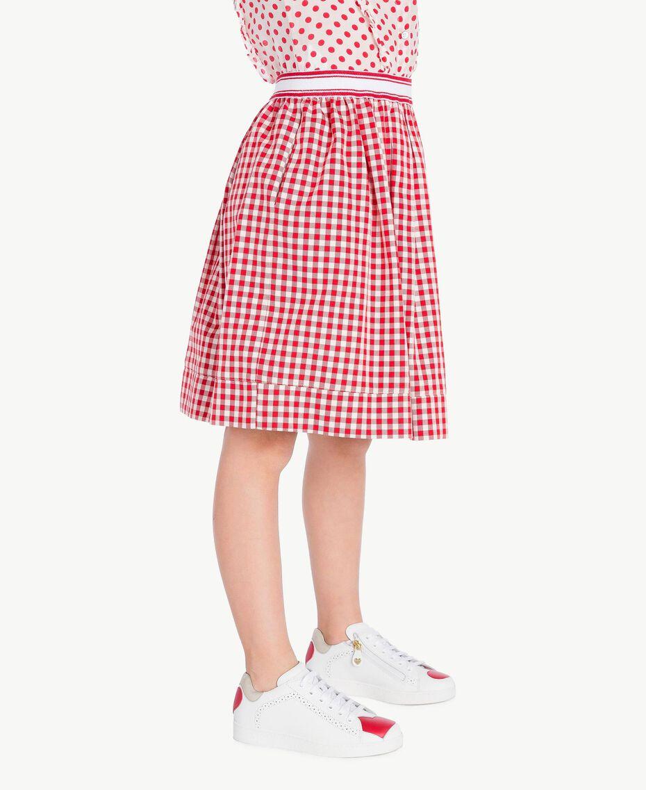 Gingham skirt Gingham / Pomegranate Red Jacquard Child GS82ZF-03