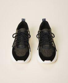 Chaussures de running avec logo Noir Femme 202TCP036-05