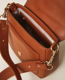 Round Rebel shoulder bag Leather Brown Woman 202TD8172-05