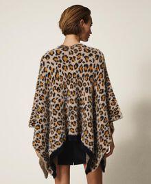 Poncho en maille animalière Imprimé Léopard Femme 202LL4FQQ-03
