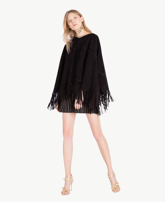 Jacquard shorts Black Jacquard / Gold Stripes Woman TS82VE-05