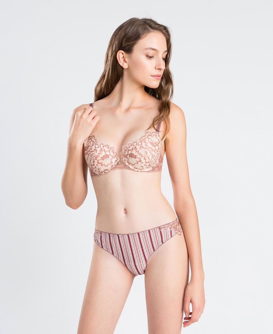 """Push-up in pizzo bicolore Rosa """"Baroque Rose"""" Donna IA8D44-0S"""