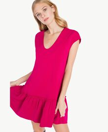 """Kleid mit Volant """"Anemonen""""-Fuchsia PA72TG-04"""